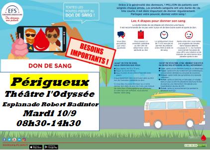 Perigueux theatre 10 sept 19